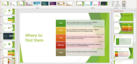 Factors to consider when using a PowerPoint design template